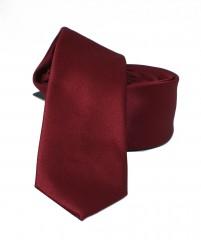 NM slim szatén nyakkendő - Bordó Egyszínű nyakkendő