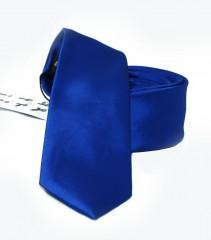NM slim szatén nyakkendő - Királykék Egyszínű nyakkendő