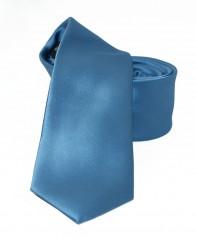 NM slim szatén nyakkendő - Farmerkék Egyszínű nyakkendő