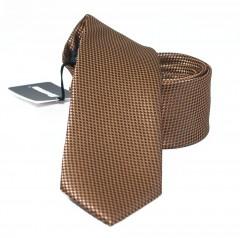 NM slim nyakkendő - Barna szövött Egyszínű nyakkendő