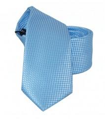 NM slim szatén nyakkendő - Kék szövött Egyszínű nyakkendő