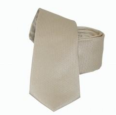 NM slim szatén nyakkendő - Drapp szövött Egyszínű nyakkendő