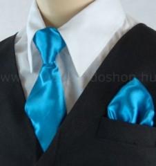Gyerek nyakkendő szett - Türkízkék Gyerek nyakkendők