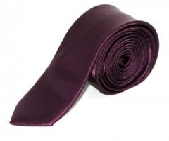 Szatén slim nyakkendő - Sötétlila