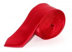 Szatén slim nyakkendő - Piros