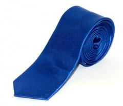 Szatén slim nyakkendő - Királykék