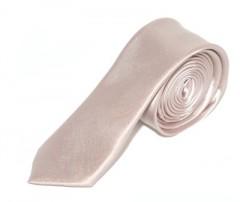 Szatén slim nyakkendő - Púder