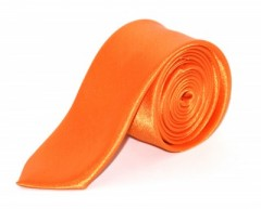 Szatén slim nyakkendő - Narancssárga