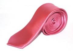 Szatén slim nyakkendő - Lazac