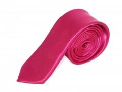 Szatén slim nyakkendő - Pink