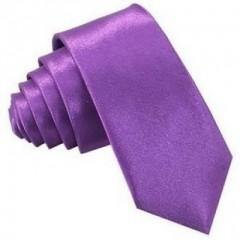 Szatén slim nyakkendő - Lila