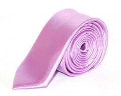 Szatén slim nyakkendő - Orgonalila