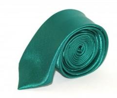 Szatén slim nyakkendő - Tűrkízzöld