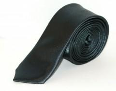 Szatén slim nyakkendő - Sötétszürke