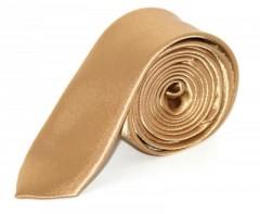 Szatén slim nyakkendő - Arany