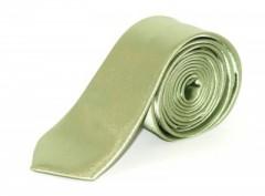 Szatén slim nyakkendő - Halványzöld