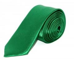 Szatén slim nyakkendő - Zöld