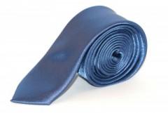 Szatén slim nyakkendő - Kék