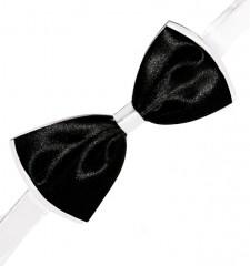 Gyerek szatén csokornyakkendő - Fekete-fehér Csokornyakkendő