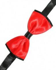 Gyerek szatén csokornyakkendő - Fekete-piros Csokornyakkendő