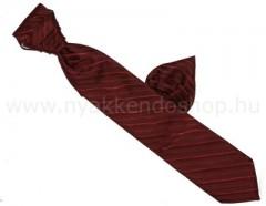 Hosszított francia nyakkendő - Bordó csíkos