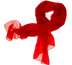 Női muszlin kendő - Piros