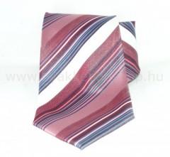 Classic prémium nyakkendő - Lazac-fehér csíkos
