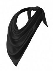 Szatén női kendő - Fekete