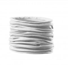 Szatén női cső kendő - Fehér