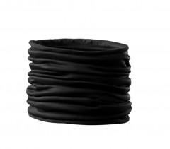 Szatén női cső kendő - Fekete