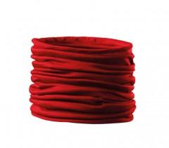 Szatén női cső kendő - Piros