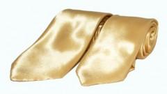 Szatén apa-fia nyakkendő szett - Arany Apa-fia szett