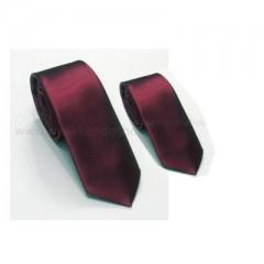 395d9a2208 Szatén apa-fia nyakkendő szett - Bordó Apa-fia szett