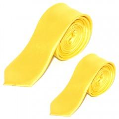 Szatén apa-fia nyakkendő szett - Sárga Apa-fia szett