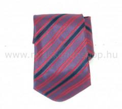 Saint Michael selyem nyakkendő - Lila-piros csíkos