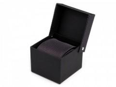 Díszdobozos nyakkendő - Fekete mintás