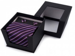 Díszdobozos nyakkendő - Lila mintás Nyakkendők