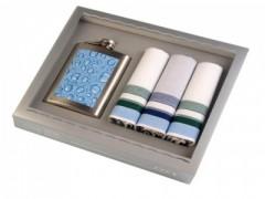 Férfi ajándékszett - Kék kockás