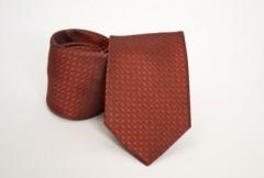 Prémium selyem nyakkendő - Rozsdabarna mintás