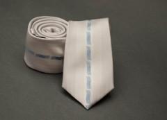 Prémium slim nyakkendő -  Ecru mintás