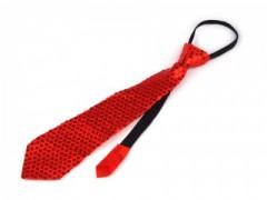 Nyakkendő flitterekkel - Piros