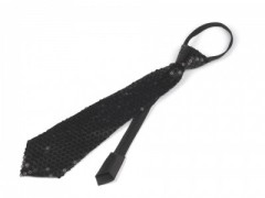 Nyakkendő flitterekkel - Fekete