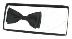 Díszdobozos csokornyakkendő szett - Fekete-fehér Szett