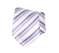 Goldenland nyakkendő - Lila-fehér csíkos