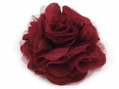 Rózsa kitűző - Bordó