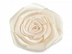 Rózsa kitűző - Ecru