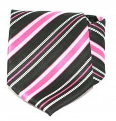 Goldenland nyakkendő - Pink-fekete csíkos