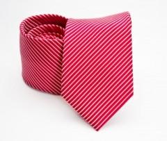 Prémium selyem nyakkendő - Piros csíkos
