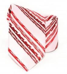 Saint Michael selyem nyakkendő - Rózsaszín-piros mintás Selyem nyakkendők