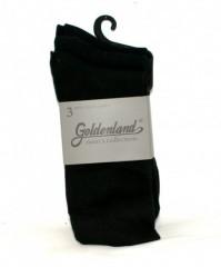 Goldenland 3 db öltönyzokni - Fekete Zokni